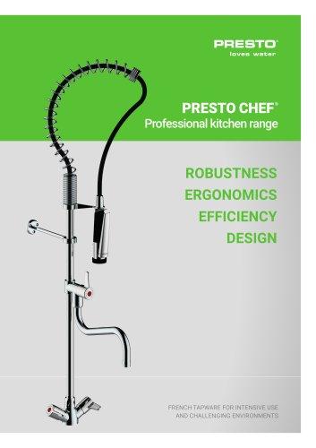PRESTO CHEF® - Professional kitchen range