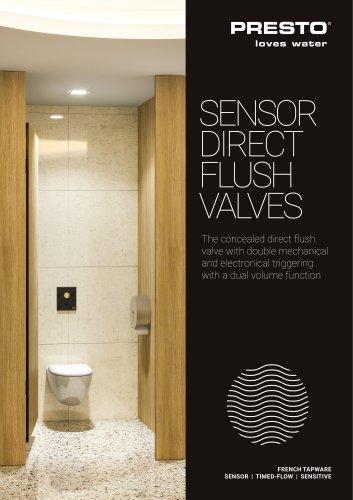 Sensor flush valves