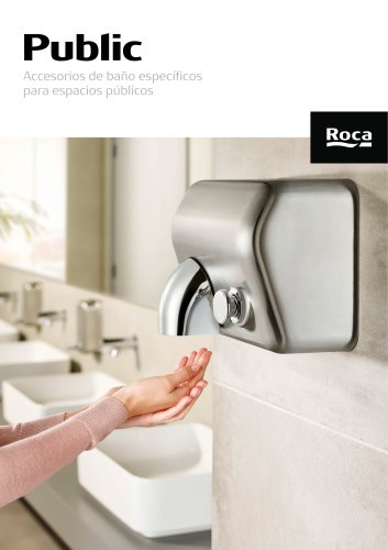 Catálogo Public - Accesorios de baño específicos para espacios públicos