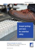Graepel gratings and more for underfoot safety