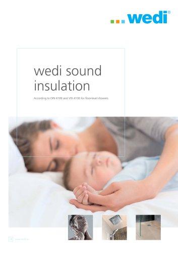 wedi sound insulation