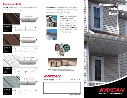 Aluminum Soffit, Fascia & Rainware Pamphlet