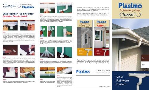 Plastmo Classic Vinyl Rainware Pamphlet