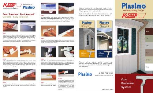 Plastmo K-Snap Vinyl Rainware Pamphlet