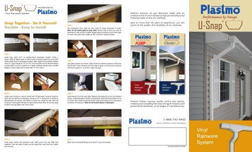 Plastmo U-Snap Vinyl Rainware Pamphlet