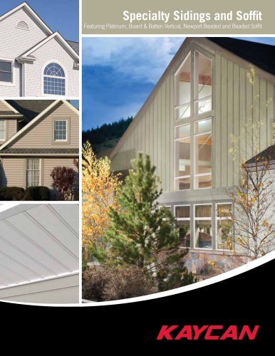 Specialty Siding and Soffit Brochure