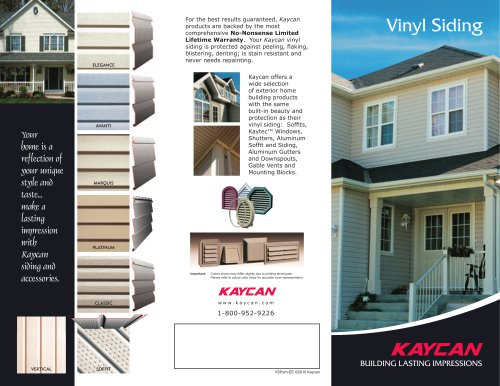 Vinyl Siding Pamphlet