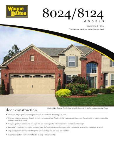 Model 8024/8124   Classic Steel Garage Door