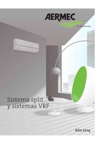 Sistema split y sistemas VRF