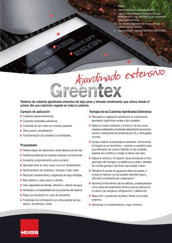 greentex ajardinado extensivo