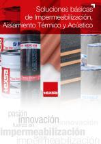 Soluciones basicas de impermeabilización y aislamiento acústico y térmico