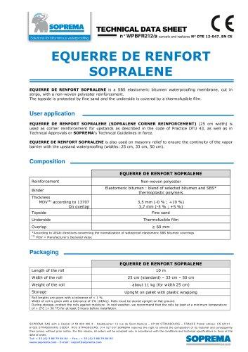 EQUERRE DE RENFORT SOPRALENE