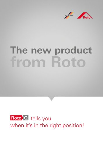 RotoQ tells you when it's in the right position!