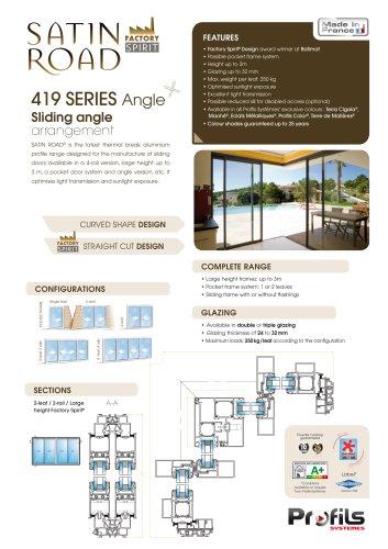 Satin Road® sliding angle arrangement