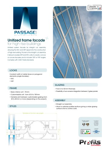UUS Passage aluminum frame facade