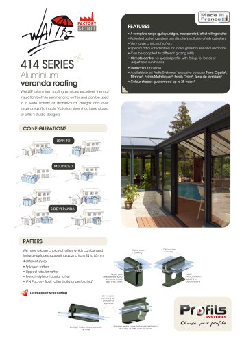 Wallis® aluminum veranda roofing