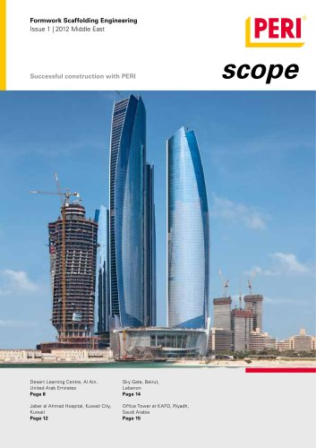 Formwork Scaffolding Engineering Issue 1 | 2012 Middle East