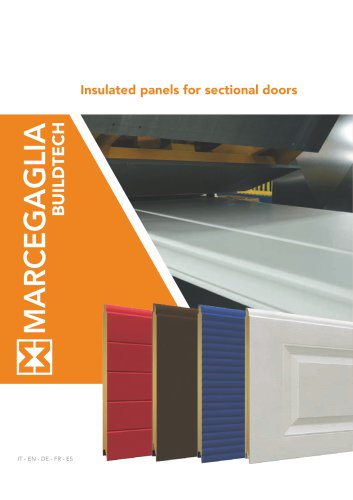 Insulated panels for sectional doors
