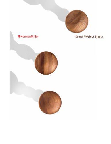 Eames Walnut Stools