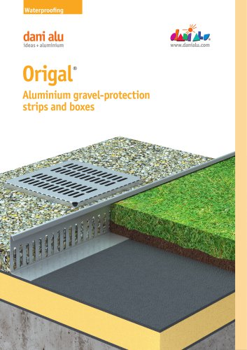 Origal : Aluminium gravel-protection strips and boxes