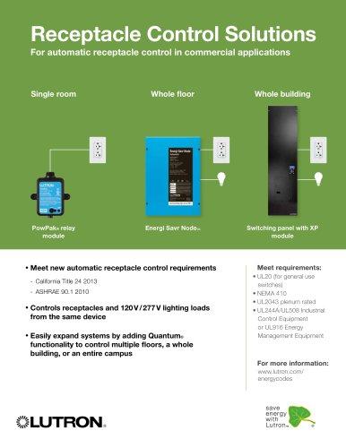 Receptacle Control Solutions Brochure