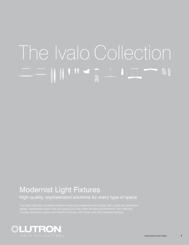 The Ivalo® Collection Modernist Light Fixtures