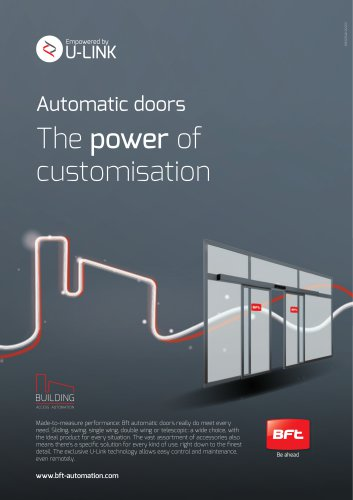 Automatic doors The power of customisation