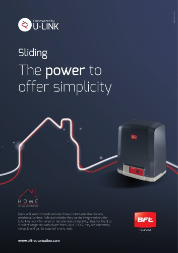 Sliding The power to offer simplicity