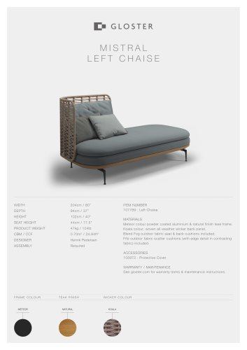 MISTRAL LEFT CHAISE