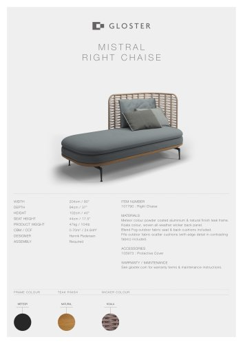 MISTRAL RIGHT CHAISE