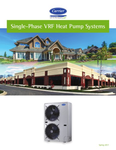 Carrier Single-Phase VRF Heat Pump Systems