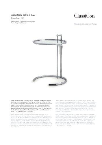 Adjustable Table E 1027 1927