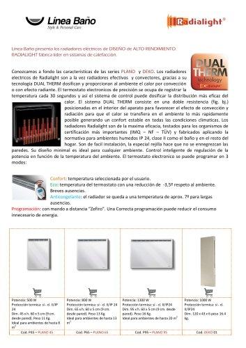 Radiadores electricos PLANO de Radialight