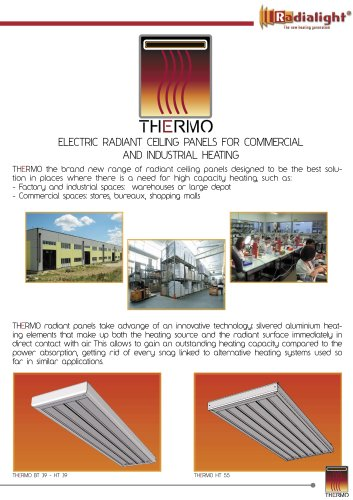 Thermo: ceiling radiant panel for commercial and industrial heating