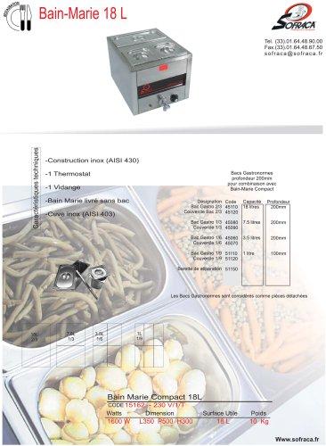 Bain-Marie compact 18 litres
