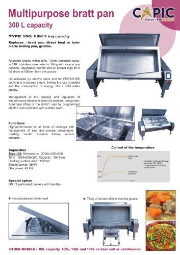 Multipurpose bratt pan