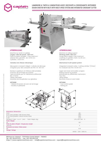 DOUGH SHEETER WITH BELTS WITH MULTI SPEED SYSTEM AND INTEGRATED CROISSANT CUTTER