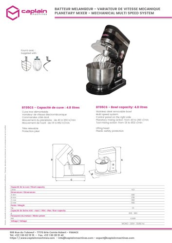 PLANETARY MIXER - MECHANICAL MULTI SPEED SYSTEM
