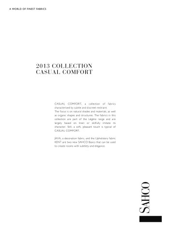 2013 COLLECTION CASUAL COMFORT