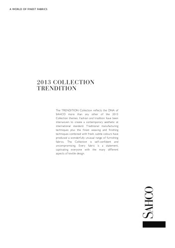 2013 COLLECTION TRENDITION