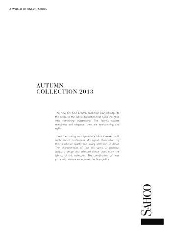 AUTUMN COLLECTION 2013
