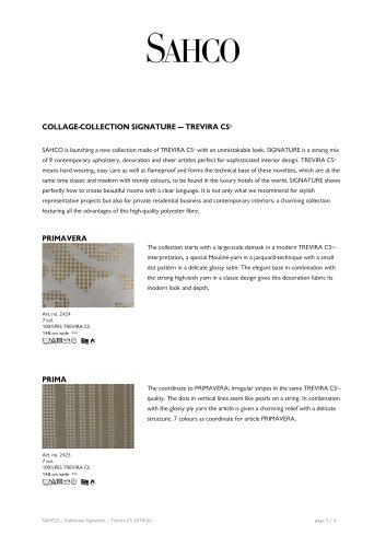COLLAGE-COLLECTION SIGNATURE — TREVIRA CS®