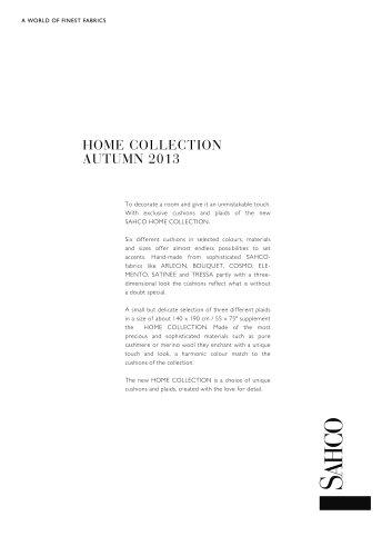 HOME COLLECTION AUTUMN 2013