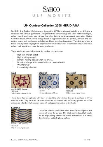 ULF MORITZ outdoor collection 2008 MERIDIANA