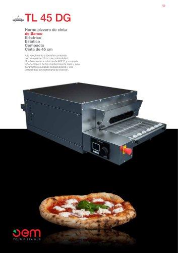 Horno pizzero de cinta de Banco TL45DG
