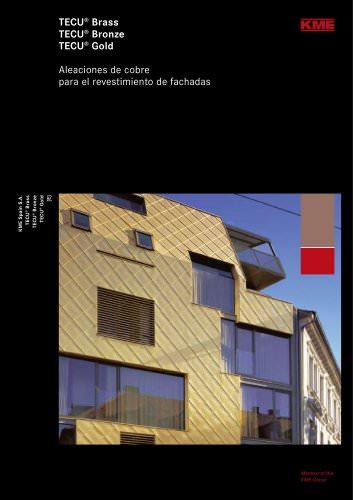 Aleaciones de cobre para el revestimiento de fachadas
