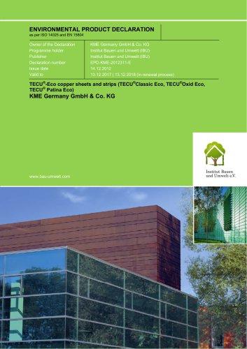 Environmental Product Declaration-TECU® Copper