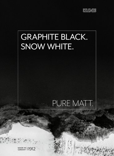 Graphite black. Snow white.