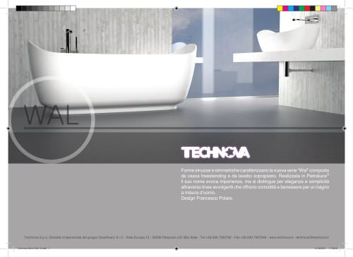 WAL bathtub and countertop basin in Pietraluce®