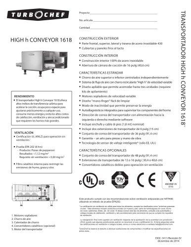 High h Conveyor 1618